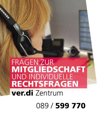 ver.di Zentrum München - 089 / 599 770