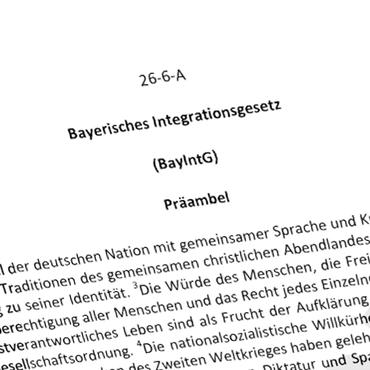 Bayerisches Integrationsgesetz