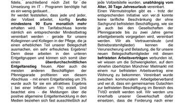 Pfennigparade Flyer Info VL zur Tarifrunde 2014