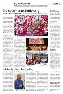Münchenseite in der ver.di-Publik 06-2015