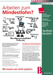 Tarifinfo (03/2015)