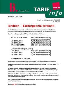 TÜV Süd Info vom 09.05.2016