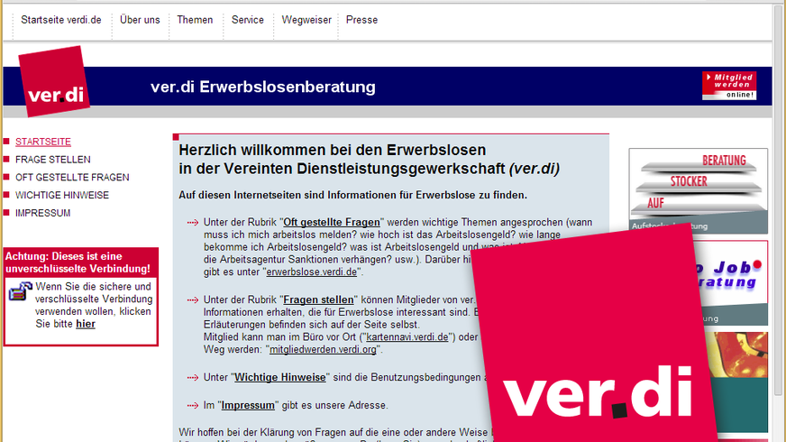 ver.di-Erwerbslosenberatunghttp://www.verdi-erwerbslosenberatung.de/