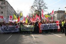 Über 7.000 Streikende aus Südbayern