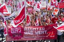 Große Streikaktion in München im Mai MKLP