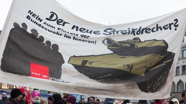 Der neue Streikbrecher? ver.di auf der Demonstration gegen die NATO-Sicherheitskonferenz in München