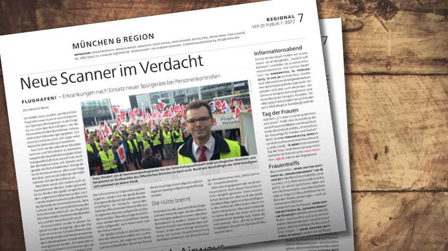Münchenseite ver.di-PUBLIK 01-2017