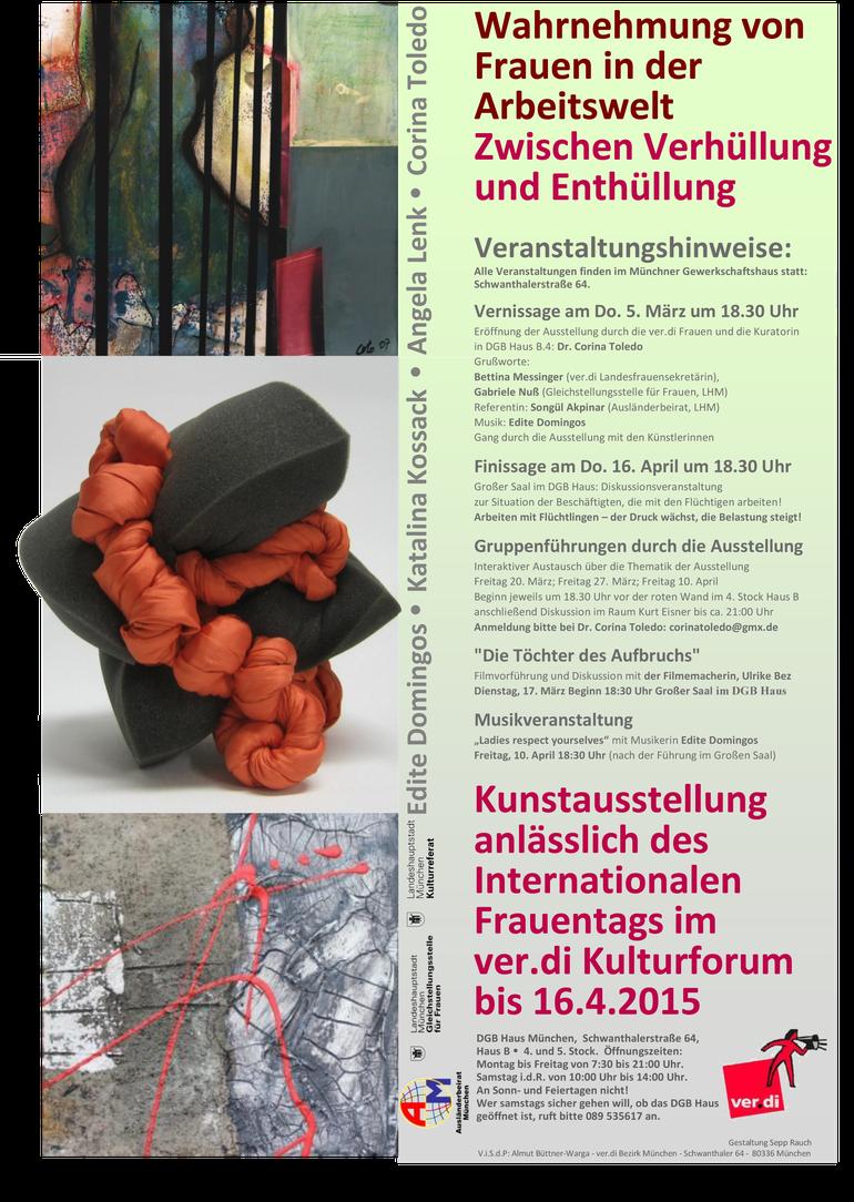 Plakat zur  Ausstellung Frauen in der Arbeitswelt