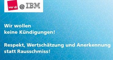 Banner gegen IBM Stellenabbau
