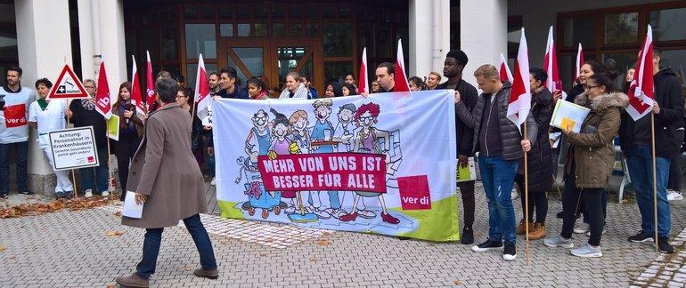 Azubis am Aktionstag am Helios Klinikum Amper Dachau