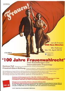 Plakat zur Ausstellung in München 100 Jahre Frauenwahlrecht