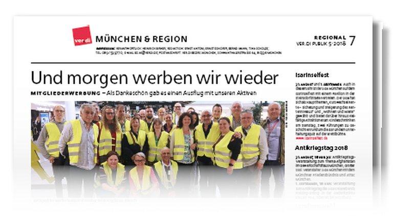 Münchenseite ver.di-Publik 05-2018
