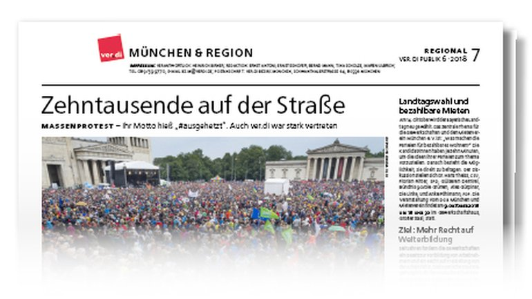 Münchenseite ver.di-Publik 06-2018