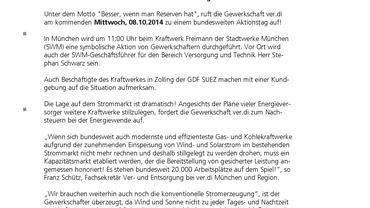 PM 08.10.14 Kraftwerker schlagen alarm