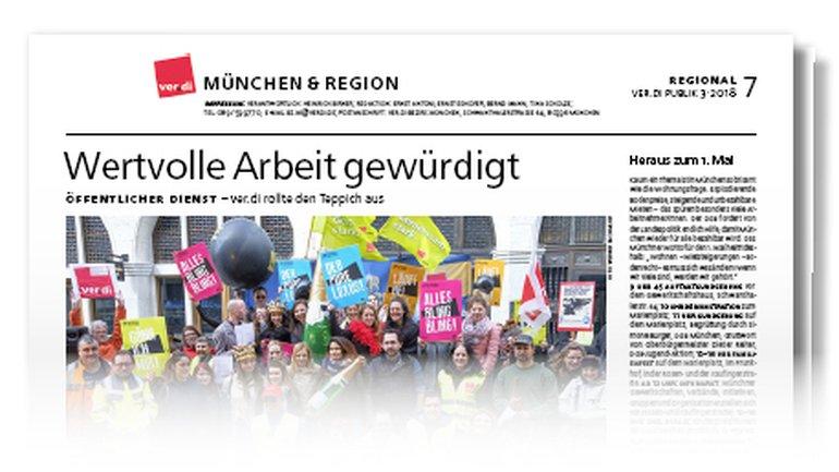 Münchenseite ver.di-Publik 03-2018