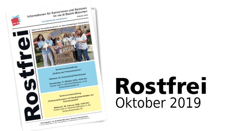 Rostfrei Oktober 2019