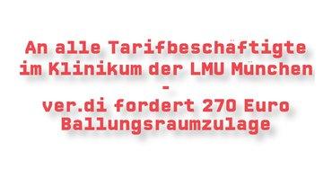 ver.di fordert 270 Euro Ballungsraumzulage