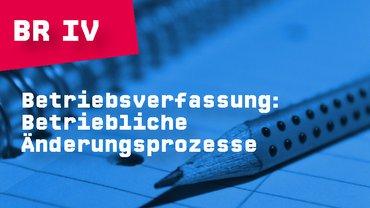 Betriebsverfassung: Betriebliche Änderungsprozesse (BR IV)
