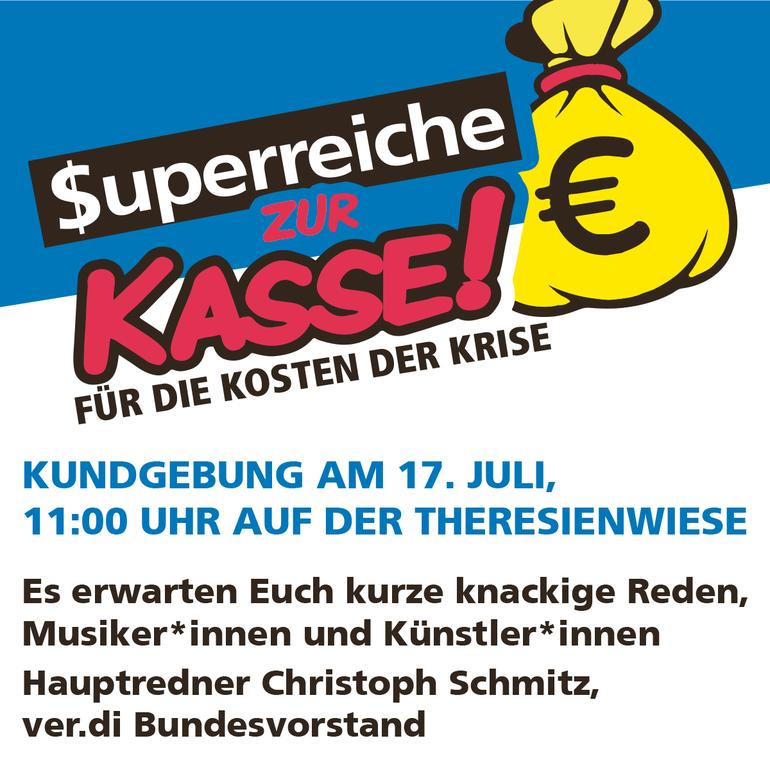 Kundgebung am 17. Juli, 11.00 auf der Theresienwiese